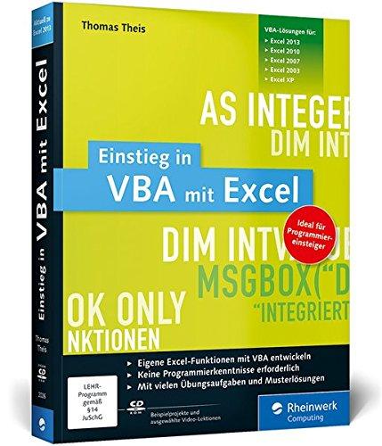 9783836220262: Einstieg in VBA mit Excel: F�r Microsoft Excel 2002 bis 2013