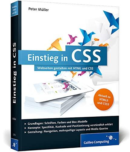 9783836227766: Einstieg in CSS: Webseiten gestalten mit HTML und CSS