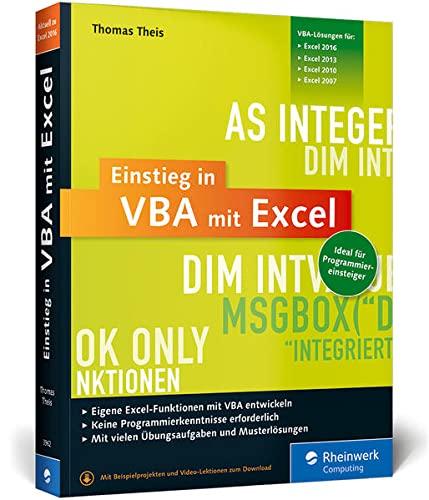 9783836239622: Einstieg in VBA mit Excel