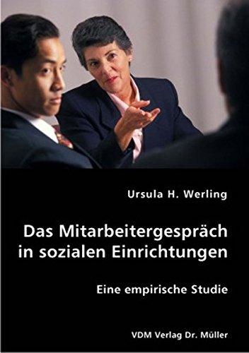 9783836403924: Das Mitarbeitergespr�ch in sozialen Einrichtungen: Eine empirische Studie