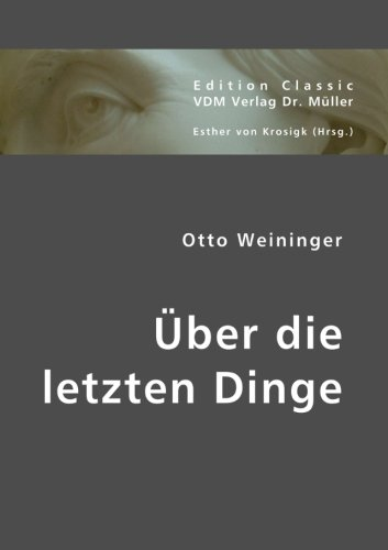 9783836412087: Über die letzten Dinge (German Edition)