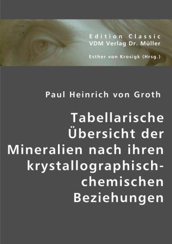 Tabellarische Übersicht der Mineralien nach ihren krystallographisch-chemischen Beziehungen (...