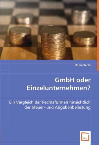 GmbH oder Einzelunternehmen?: Ulrike Barth