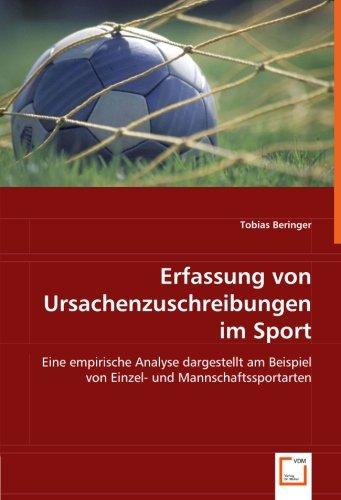 Erfassung von Ursachenzuschreibungen im Sport: Tobias Beringer