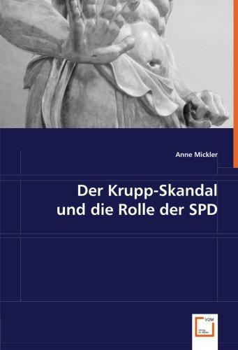 9783836493468: Der Krupp-Skandal und die Rolle der SPD
