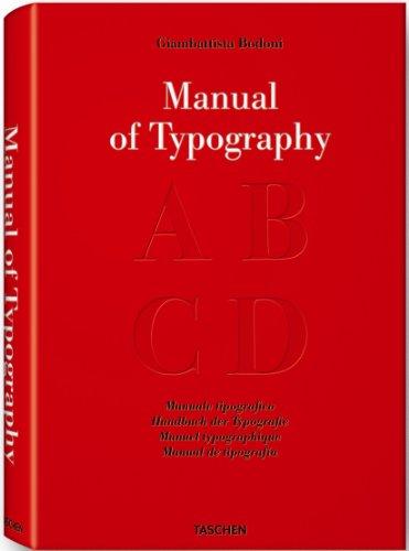 MANUAL OF TYPOGRAPHY. MANUALE TIPOGRAFICO 1818.: BODONI, Giambattista, Stephan