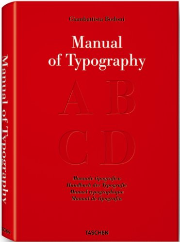 9783836505536: Bodoni: Manual Of Typography