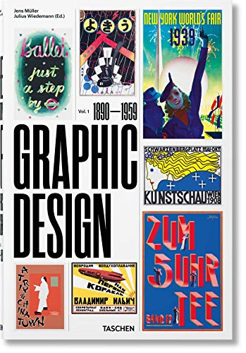 9783836563079: The History of Graphic Design: Volume 1 (1890-1959)