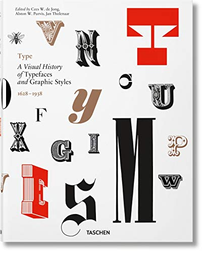 9783836565882: Type: A Visual History of Typefaces & Graphic Styles (Multilingual Edition)
