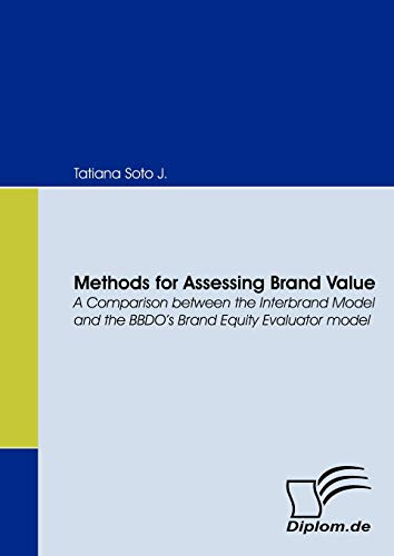 9783836658720: Methods for Assessing Brand Value. A Comparison between the Interbrand Model and the BBDO's Brand Equity Evaluator model