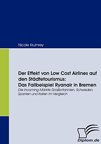 9783836661713: Der Effekt von Low Cost Airlines auf den Städtetourismus: Das Fallbeispiel Ryanair in Bremen: Die Incoming-Märkte Großbritannien, Schweden, Spanien und Italien im Vergleich (German Edition)