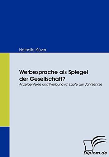 Werbesprache ALS Spiegel Der Gesellschaft?: Nathalie Klüver