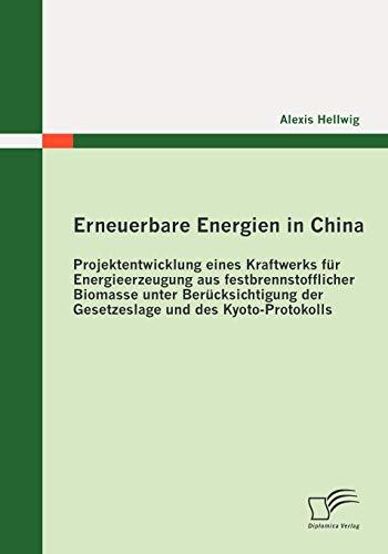 9783836683807: Erneuerbare Energien in China: Projektentwicklung eines Kraftwerks für Energieerzeugung aus festbrennstofflicher Biomasse unter Berücksichtigung der Gesetzeslage und des Kyoto-Protokolls