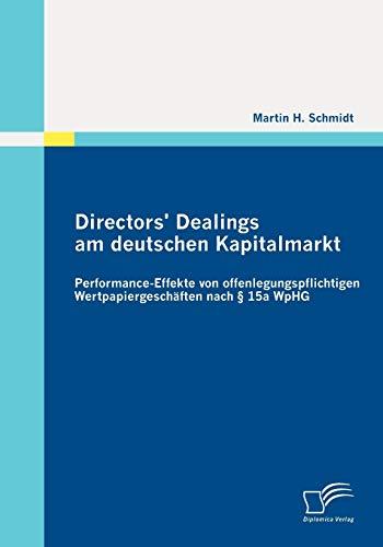 Directors Dealings Am Deutschen Kapitalmarkt: Martin H. Schmidt