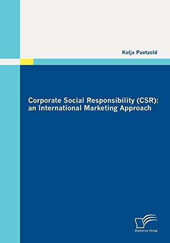 9783836696159: Corporate Social Responsibility (CSR): an International Marketing Approach
