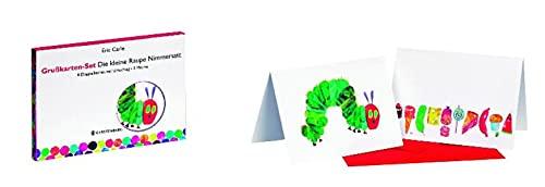Grußkarten-Set: Die kleine Raupe Nimmersatt, 8 Doppelkarte: Carle, Eric