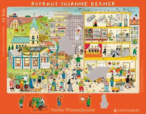 9783836954259: Wimmel-Rahmenpuzzle Herbst. Motiv Kindergarten