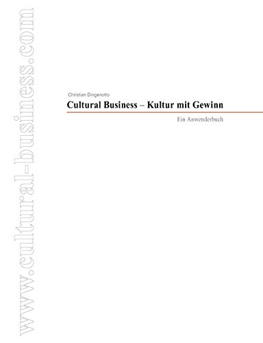 9783837004878: Cultural Business