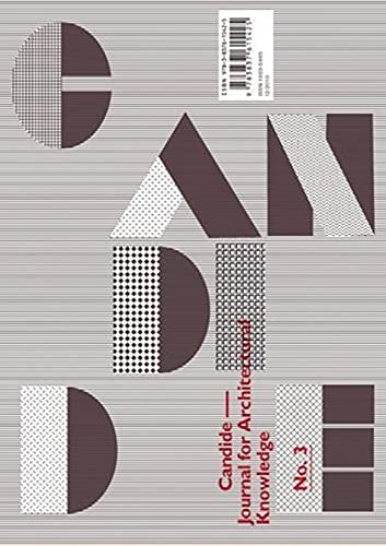 Candide. Journal for Architectural Knowledge Heft 3: Sowa, Axel, ed.