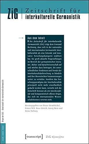 Zeitschrift f?r interkulturelle Germanistik (Journal of Intercultural: Heimbockel, Dieter