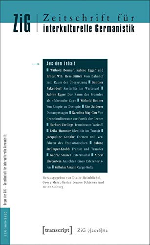 Journal For Intercultural German Studies/zeitschrift Fur Interkulturelle