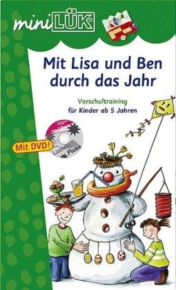 9783837791259: miniLÜK-Set Mit Lisa und Ben durch das Jahr: Vorschultraining für Kinder ab 5 Jahren