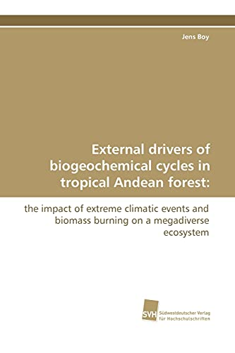 External Drivers of Biogeochemical Cycles in Tropical: Jens Boy (author)