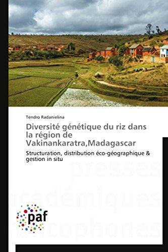 Diversité génétique du riz dans la région: Tendro Radanielina