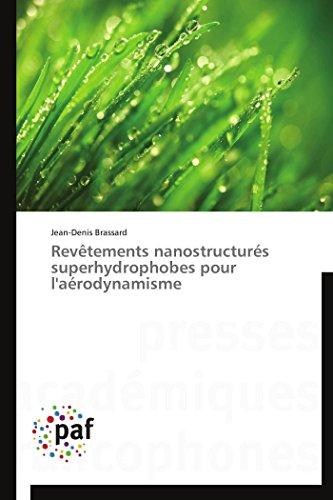 9783838177441: Revêtements nanostructurés superhydrophobes pour l'aérodynamisme (Omn.Pres.Franc.) (French Edition)