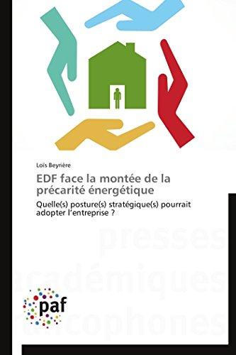 9783838178141: EDF face la montée de la précarité énergétique: Quelle(s) posture(s) stratégique(s) pourrait adopter l?entreprise ? (Omn.Pres.Franc.) (French Edition)