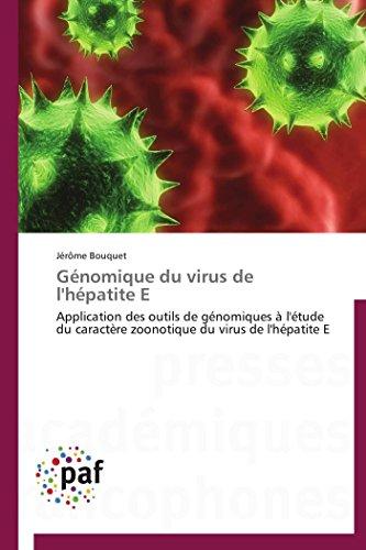 Génomique du virus de l'hépatite E: Jérôme Bouquet