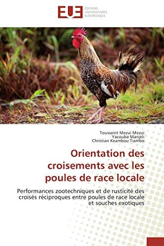 9783838184395: Orientation des croisements avec les poules de race locale: Performances zootechniques et de rusticit� des crois�s r�ciproques entre poules de race locale et souches exotiques
