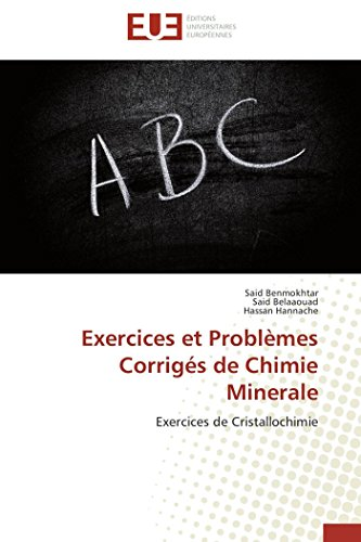 9783838184418: Exercices et probl�mes corrig�s de chimie minerale