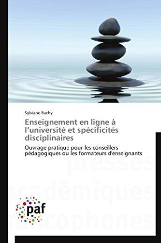 Enseignement En Ligne A LUniversite Et Specificites Disciplinaires: Sylviane Bachy