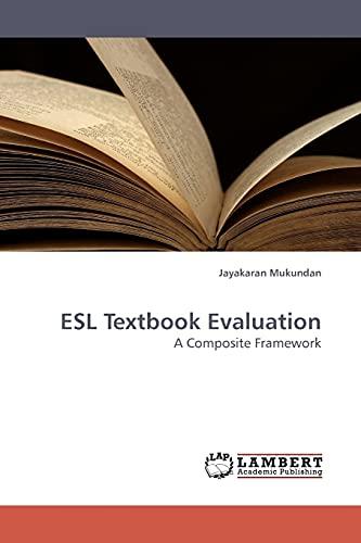 ESL Textbook Evaluation: Jayakaran Mukundan