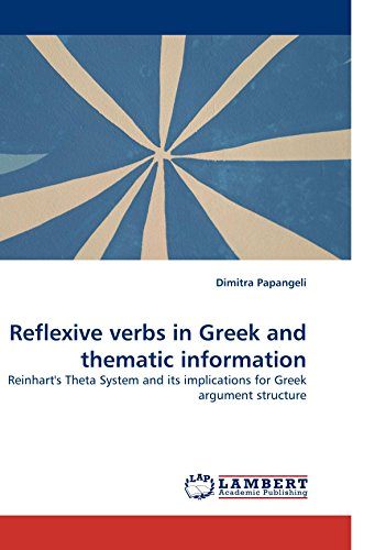 9783838323749: Reflexive verbs in Greek and thematic information: Reinhart's Theta System and its implications for Greek argument structure