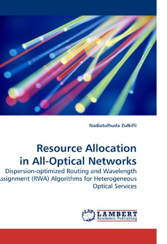 9783838325767: Resource Allocation in All-Optical Networks: Dispersion-optimized Routing and Wavelength Assignment (RWA) Algorithms for Heterogeneous Optical Services