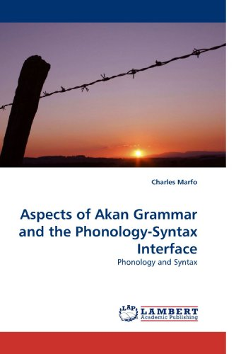 9783838327914: Aspects of Akan Grammar and the Phonology-Syntax Interface: Phonology and Syntax