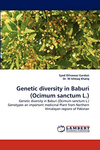 9783838380957: Genetic diversity in Baburi (Ocimum sanctum L.): Genetic diversity in Baburi (Ocimum sanctum L.) Genotypes an important medicinal Plant from Northern Himalayan regions of Pakistan