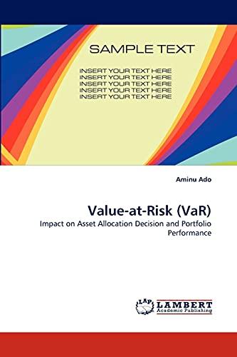 Value-At-Risk (Var): Aminu Ado