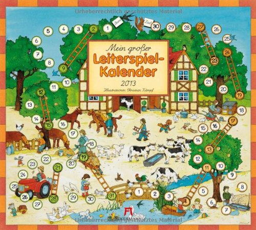9783838413082: Mein großer Leiterspielkalender 2013: Illustriert von Christian Kämpf, 6 Blätter à 2 Monate