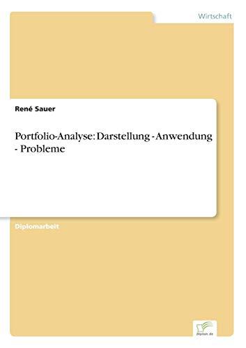 9783838603520: Portfolio-Analyse: Darstellung - Anwendung - Probleme