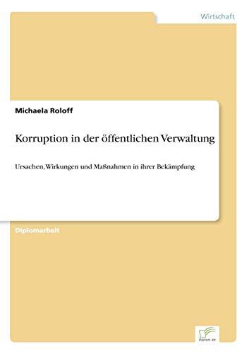 9783838605302: Korruption in der öffentlichen Verwaltung (German Edition)