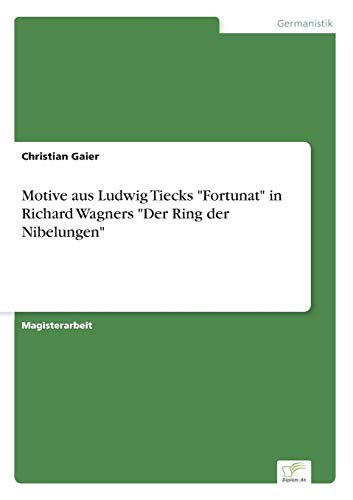 9783838607504: Motive aus Ludwig Tiecks