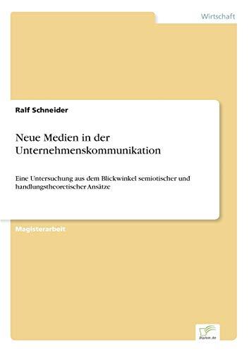 9783838615868: Neue Medien in der Unternehmenskommunikation