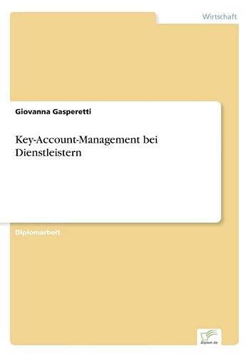 9783838621531: Key-Account-Management bei Dienstleistern