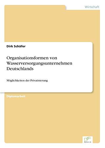 Organisationsformen Von Wasserversorgungsunternehmen Deutschlands: Dirk Schäfer