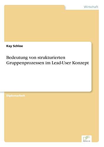 Bedeutung Von Strukturierten Gruppenprozessen Im Lead-User Konzept: Kay Schloe