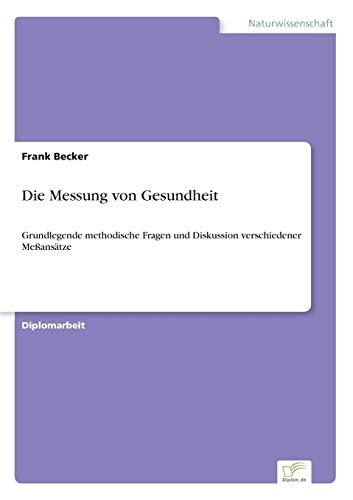 9783838633084: Die Messung von Gesundheit (German Edition)