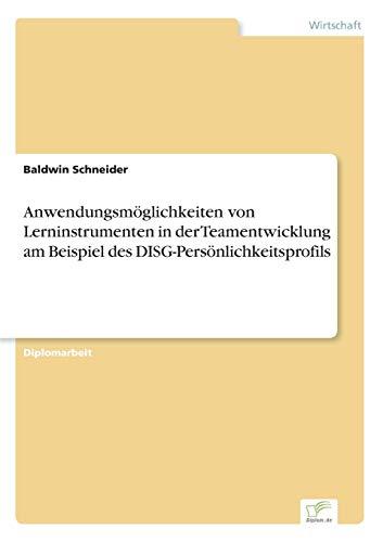 Anwendungsmoglichkeiten Von Lerninstrumenten in Der Teamentwicklung Am Beispiel Des ...